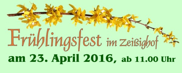 Ankündigung Frühlingsfest am 23. April