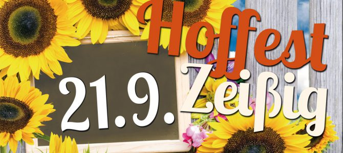 Zeißiger Hoffest am 21. September
